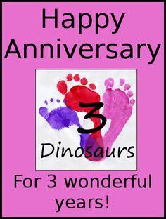 Happy Anniversary 3 Dinosaurs – 3 Years Today! | 3 Dinosaurs