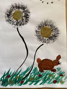 Painting, Art, Dandelion