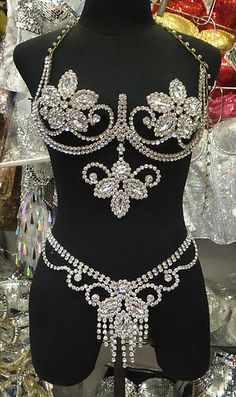 Crystal Bust & Hip adornments