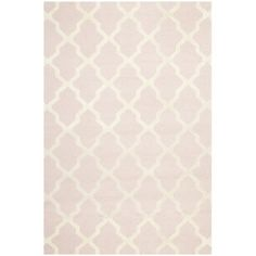 @Overstock   Traditional Handmade Cambridge Moroccan Light Pink Wool Rug    Add Some Color