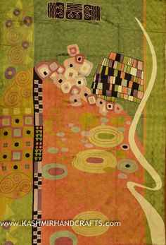 Klimt inspired tapestry rug