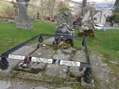 Burial place of Rob Roy McGregor and his family, in Balquhidder kirk yard.
