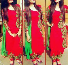 Punjabi Party Wear Embroidery Suit with Hand Made Effects Indian Traditional Punjabi Salwar Suits, Salwar Kameez, Punjabi Wedding Suit, Punjabi Suit Simple, Punjabi Dress, Sharara Suit, Churidar, Wedding Suits, Kurti