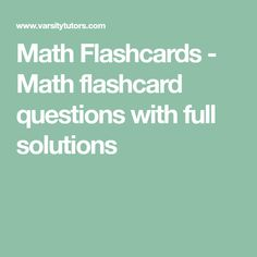 Thousands of free Math flashcards with detailed answers. Use these free Math flashcards for quick daily practice. Learning Process, Learning Tools, Math Tutor, Maths, Free Math Practice, Calculus 2, Study Flashcards, Basic Geometry, Precalculus