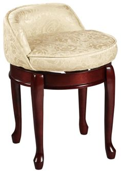 Delmar High Back Swivel Vanity Stool Stools Bedroom Furniture Homedecorators House Ideas Interior Pinterest