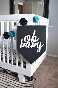 DIY Modern Felt Banner for the Nursery - get the tutorial + printable template!