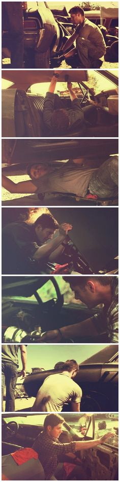 Mechanic Dean. He's the only reason I want to rebuild my own '67 chevy. Because of how much he loved that car.