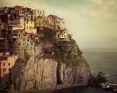 Italy Photography, Cinque Terre, Fine Art Print, Colorful Pastel Houses, Italy Art, Wall Decor, Travel - Postcard from the Edge
