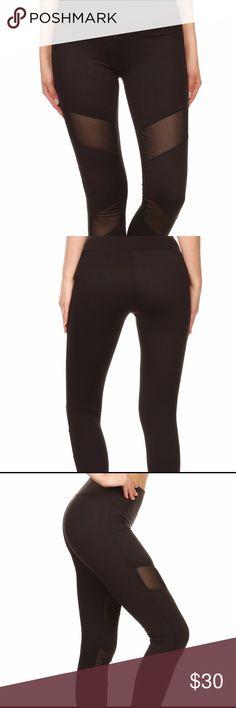 ❤️ sporty mesh legging Sporty leggings with asymmetrical mesh panels. Perfect gym statement piece. Pants Leggings