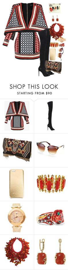 """""""324%"""" by deliriousxdoc ❤ liked on Polyvore featuring Balmain, Versace, Gucci and Miseno"""