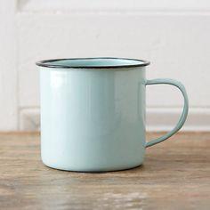 Mint Enamel Mug // $10