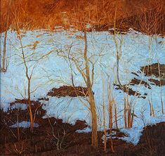 luminous snow ~ oil on linen ~ by victoria crowe