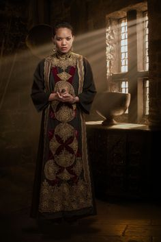 Chipo Chung as Vivian in Camelot (TV series, 2011). Series costume design by Joan Bergin.