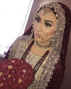 Hijaab and Glow for this little beauty 🤩🔥 I loved this finish on her. A super glowing cheek against soft pink hues of blush on that… Hijabi Wedding, Asian Wedding Dress, Disney Wedding Dresses, Pakistani Wedding Dresses, Pakistani Bridal Makeup, Asian Bridal Makeup, Indian Bridal, Hijab Bride, Bride Groom Dress