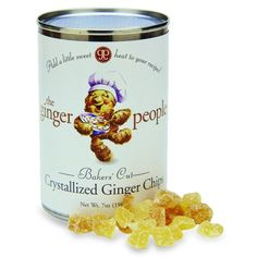Baker's Cut Crystallized Ginger Chips Tin