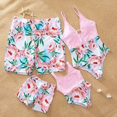Yaffi Family Matching Swimwear One Piece Mommy and Me Swimsuits 2019 Newest Bathing Suits Coconut Tree Printed Flamingo Suit, Mommy And Me Swimwear, Kids Outfits, Cute Outfits, Pool Fashion, Girls Bathing Suits, Cute Swimsuits, Matching Family Outfits, Baby Girl Outfits