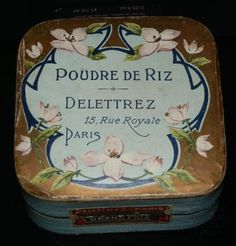 Poudre de Riz                      Type:Rice Powder                    Material(s):Cardboard                    Designer/Maker:Delettrez                    Origin:France                    Date or Era:ca. 1900