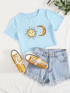 Cute Outfits For School, Teenage Girl Outfits, Cute Summer Outfits, Cute Casual Outfits, Stylish Outfits, Tween Fashion, Girls Fashion Clothes, Teen Fashion Outfits, Cute Fashion