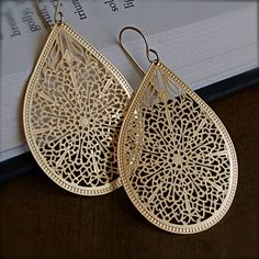 i would like to wear these pretty earrings with my sari, by thestellabluegallery
