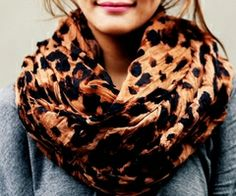 Leopard infinity scarf!