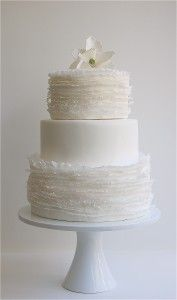 12 All-White Wedding Cakes: Tissue-like fondant cake by Maggie Austen Pretty Cakes, Beautiful Cakes, Amazing Cakes, Simply Beautiful, All White Wedding, White Wedding Cakes, Elegant Wedding, Wedding Simple, White Weddings