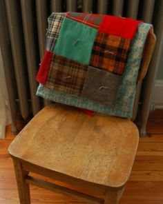 Tied wool quilt by Redheaded Snip It