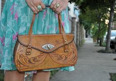 Vintage Tooled Leather Purse.