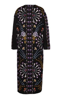 Effie Embroidered Kimono Coat by Temperley London Folk Print, Kimono Coat, Alexis Mabille, British Indian, Temperley, Cotton Jacket, Printed Cotton, Cool Designs, Men Casual