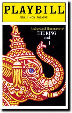 < The King and I : Playbill Covers Playbill Cover for The King and I at Neil Simon Theatre 1996-1998