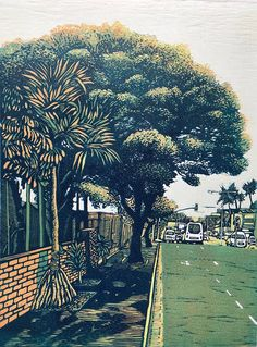 Umgeni Road Tree - art prints for sale online | StateoftheART