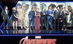 Aaron Taylor Johnson Elizabeth Olsen Paul Bettany Jeremy Renner Scarlett Johansson Mark Ruffalo Chris Hemsworth Chris Evans and Robert Downey Jr...