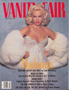 Vanity Fair, April 1991 - blond Madonna