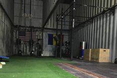 10 Ridiculous Home Gym Setups - Shipping container home gym - Crossfit Garage Gym, Home Gym Garage, Diy Home Gym, Best Home Gym, Garage House, Backyard Gym, Backyard Ideas, Dream Home Gym, Gym Setup