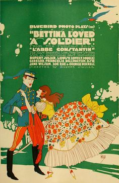 """Movie Poster of the Week: """"Bettina Loved a Soldier"""" and the Bluebird Photoplay Ads of Burton Rice"""