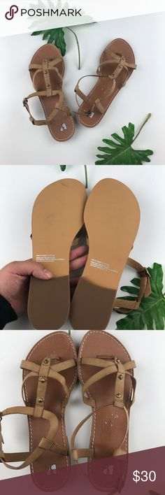 Nordstrom B.P. Tan Sandals Size 8.5 New without box. Size 8.5. Perfect tan color to wear with any outfit! Sorry, no trades. bp Shoes Sandals