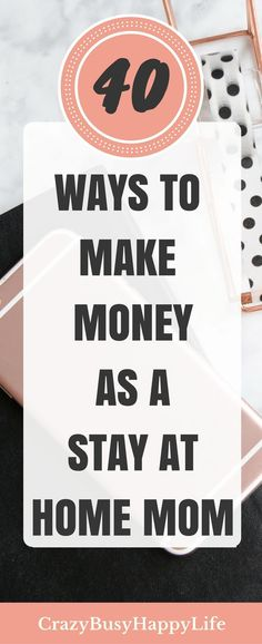 40 Ways to Make Money as a Stay At Home Mom Here are 40 great ideas for earning money from home. If you want to be a stay at home mom but you need extra income, try some of these side hustles. Become a work at home mom while also raising your kids. Earn Money From Home, Earn Money Online, Earning Money, Online Jobs, Stay At Home Mom, Work From Home Moms, Work At Home, Make Quick Money, Write Online