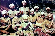 Colonial troops from India, WWI