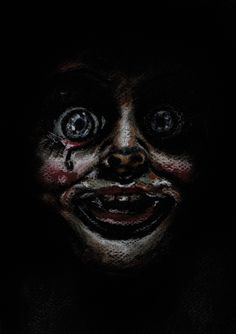 Annabelle Annabelle Doll The Conjuring Horror Artwork Scary Photos, Horror Pictures, Scary Picture, Horror Movie Characters, Horror Movies, Funny Horror, Annabelle Horror, Horror Wallpapers Hd, Vanellope Y Ralph