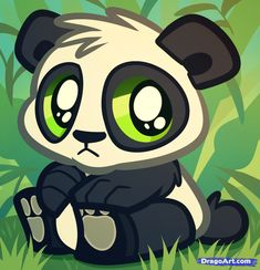 This is the cutest panda in the  world and i tried drawing this but sadly it was too complicated so the artist must be talented.