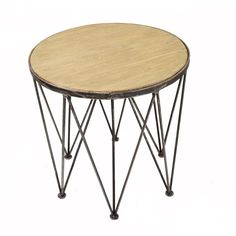 Triangle Retro End Table