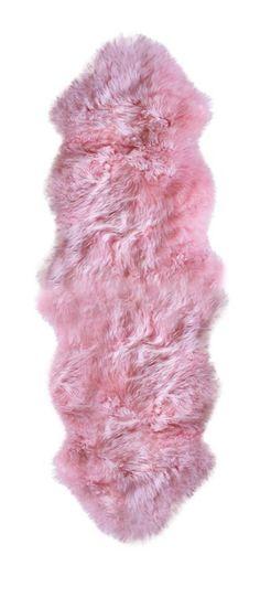 100% New Zealand Sheepskin Double Pink - Natural Brand - $189 - domino.com