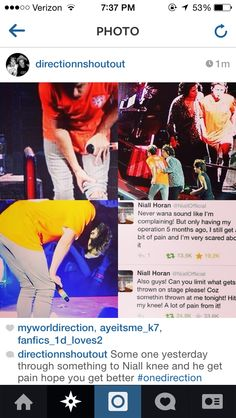 Awww poor Nialler<<<<<OMG I HATE WHEN PEOPLE DO THIS!!!! I MEAN WHY ARE YOU GOING TO THEIR CONCERTS IF ALL YOURE GOING TO DO IS THROW STUFF AT THEM WHILE THEY TRY TO MAKE PEOPLE HAPPY BY DOING WHAT THEY LOVE?!?!?!  UGGGHHHHH I HATE PEOPLE!!!!!!
