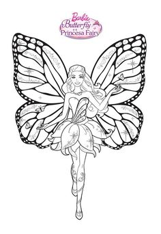 Barbie Coloring Pages Disney Colors For Kids Books Line Art Print Faeries Vintage