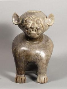 feline effigy jar - ARTWORLD - VADS: the online resource for visual arts Ancient Aliens, Ancient Art, Ancient History, Middle Eastern Art, Ecuador, Effigy, Ancient Civilizations, African Art, Archaeology