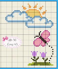 Baby Cross Stitch Patterns, Free Cross Stitch Charts, Cross Stitch Cards, Simple Cross Stitch, Cross Stitch Alphabet, Cross Stitch Baby, Cross Stitch Flowers, Cross Stitch Designs, Cross Stitching