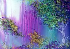 Gorgeous ink alcohol painting!! Must try