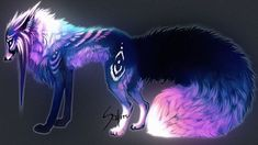 Dark Art Anime Artists Wolves Ideas For 2019 Fantasy Wolf, Fantasy Beasts, Dark Fantasy Art, Dark Art, Cute Fantasy Creatures, Mythical Creatures Art, Anime Wolf, Cute Animal Drawings Kawaii, Mystical Animals