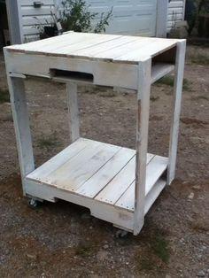 Pallet Microwave Cart