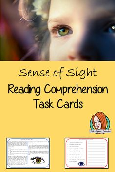 Sense of Sight Reading Comprehension Card Lessons For Kids, Science Lessons, Teaching Science, Sense Of Sight, English Lessons, Teacher Newsletter, Classroom Activities, Primary School, Reading Comprehension