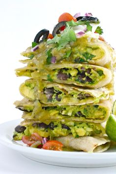 Green Chile Enchilada Quesadillas - Fork and Beans